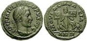Орёл Legio V Macedonica и лева Legio XIII Gemina