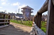 Вид на лагерь с моста
