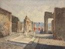 Вид на Помпеи