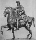 Конная статуя Марка Аврелия. Бронза. 160—170-е
