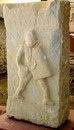 Рельеф на надгробной стеле гладиатора