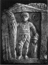 Надгробие гладиатора - провокатора  в Археологическом