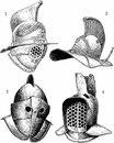 Гладиаторские шлемы, тип II, тип III B, C. 1 -