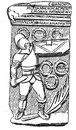 Надгробие гладиатора - секутора Виктора.