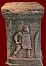 Надгробие гладиатора - секутора на кладбище