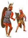 Римский легионер сражается с самнитски воином. Период Республики.