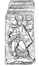 Надгробие гладиатора - секутора. Археологический