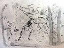 Т.н. «Фреска со Спартаком» из Помпей. Нач. 1 в. до н.э.  Фрагмент.