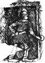 Гладиатор-сцессор, рельеф из восточной