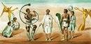 Фреска из Помпей, показывающая гладиаторов,
