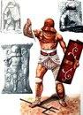 Древнеримские изображения гладиатора - провокатора и реконструкция.