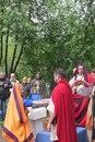 Римская свадьба. Жрец преломляет хлеб.