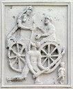 реконструированная метопы на Трофее Траяна