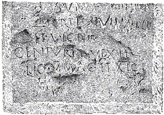 Фрагмент римской надписи с упоминанием Legio V Macedonica найденной недалеко от Бирии