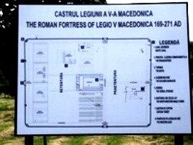 Схема укрепления Legio V Macedonica (169-271), современная Тарда в Румынии