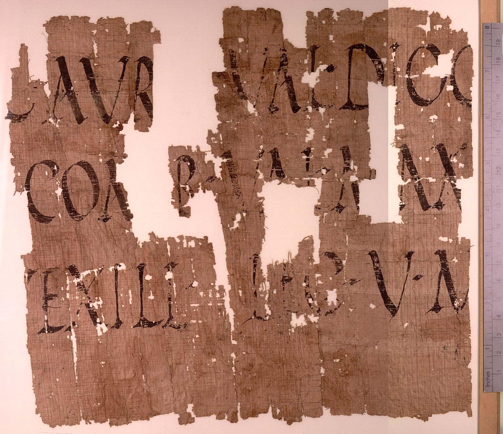 Фрагмент папируса из Египта с упоминанием вексилляции Legio V Macedonica.